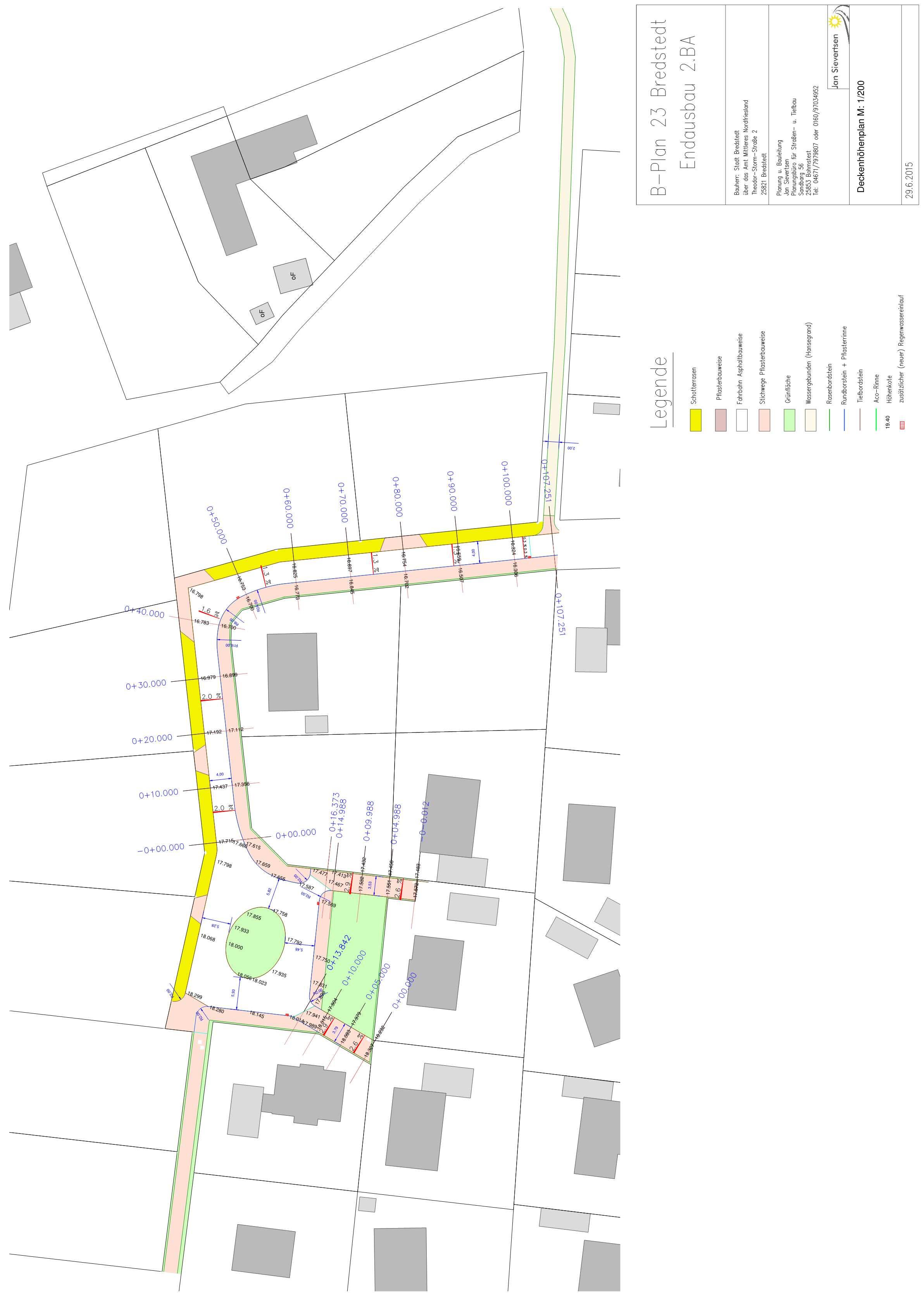Endausbau B-Plan 23 in Bredstedt
